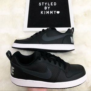 🌸 NIKE Court Sneakers Shoes New Black